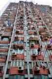 Hängande tvätteri på Shanghai den höga löneförhöjningen som bygger Kina Royaltyfria Foton