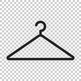 Hängarevektorsymbol Illustration för garderobhanderlägenhet vektor illustrationer