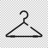 Hängarevektorsymbol Illustration för garderobhanderlägenhet stock illustrationer