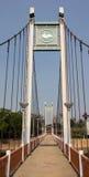 Hängebrücke über Fluss Wang Lampang, Thailand Stockfotografie