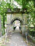 Hängebrücke auf Decin-Schloss Lizenzfreie Stockbilder