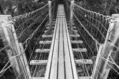 Hängebrücke auf dem Fluss, Finnland Lizenzfreie Stockfotos