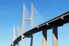 Hängebrücke bei Brunswick, GA Lizenzfreie Stockfotografie