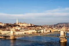Hängebrücke bei Sonnenaufgang lizenzfreies stockbild