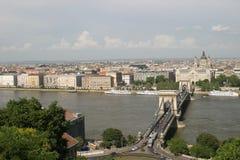 Hängebrücke, Budapest Lizenzfreies Stockfoto