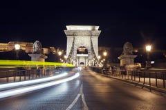Hängebrücke in Budapest Stockfotos