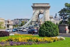 Hängebrücke - Budapest Stockfoto