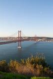 Brücke 25. April Stockfotos