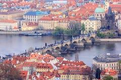 Hängebrücke, Prag-Stadtbild, Prag Stockfotografie
