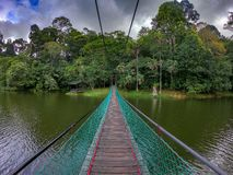 Hängebrücke, sandakan, Sabah Malaysia stockbild
