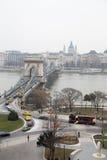 Hängebrücke und Plage Stockfoto