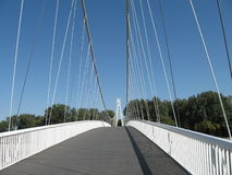 Hängebrückedetail Stockfotos