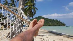 Hängematte auf Phi Phi Island, Thailand Lizenzfreies Stockfoto