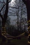 Hängematte nachts lizenzfreie stockbilder