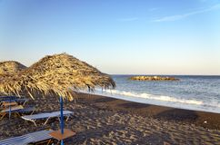 Hängematten auf dem Strand Lizenzfreie Stockfotografie
