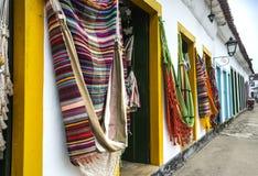 Hängematten in Paraty, Rio de Janeiro Stockfotos