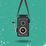 hängende alte Kamera lizenzfreie abbildung