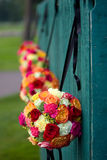 Hängende Blumensträuße Stockfotografie