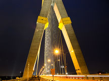 Hängende Brücke in Bangkok Lizenzfreie Stockfotografie