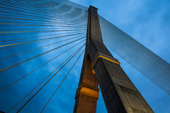 Hängende Brücke in Bangkok Stockbild