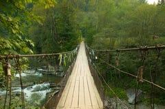 Hängende Brücke der Suspendierung Stockfoto