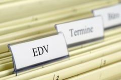 Hängende Datei ES - EDV Lizenzfreie Stockfotografie