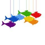 Hängende Fische Lizenzfreies Stockbild
