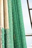 Hängende Fischernetze Stockfotos