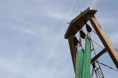 Hängende Fischernetze Lizenzfreies Stockbild