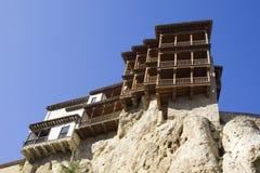 Hängende Häuser, Cuenca, Olivenölseife-La Mancha, Spanien Stockbilder