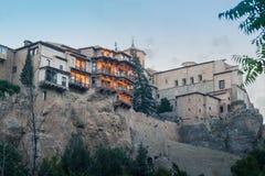 Hängende Häuser Cuencas Lizenzfreie Stockbilder