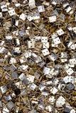Hängende Haken des Feldes Metall lizenzfreie stockbilder