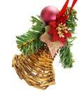 Hängende handgemachte Weihnachtsverzierung Stockbild