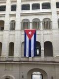 Hängende kubanische Flagge Lizenzfreie Stockfotografie