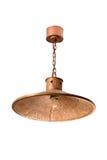 Hängende kupferne Lampe Stockfoto
