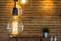 Hängende Lampe stockfoto