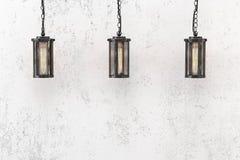 Hängende Lampen der Dachbodenart Lizenzfreie Stockfotografie