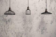 Hängende Lampen des industriellen Dachbodens Lizenzfreies Stockbild