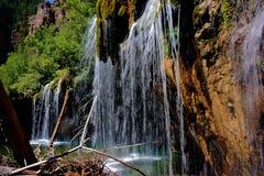 Hängende See-Wasserfall-Details Lizenzfreie Stockfotografie