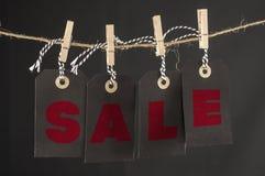 Hängende Tags des Verkaufs Stockfoto