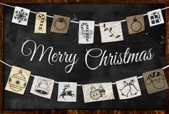 Hängende Weihnachtsgruß-Papierverzierung stock abbildung