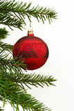 Hängende Weihnachtskugel Lizenzfreie Stockfotografie