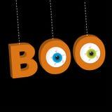 Hängender 3D Text des Wortes BUH mit Augäpfeln Lizenzfreie Stockfotos