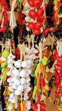 Hängendes Gemüse in Cozumel, Mexiko Lizenzfreies Stockbild