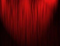 hänger upp gardiner den röda teatern Royaltyfria Foton