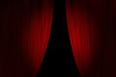 hänger upp gardiner den röda teatern Royaltyfri Bild