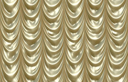 hänger upp gardiner lyxigt blankt för guld Fotografering för Bildbyråer