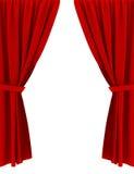 hänger upp gardiner red Royaltyfri Bild