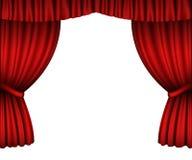 hänger upp gardiner red stock illustrationer