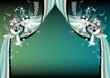 hänger upp gardiner scenisk Royaltyfri Fotografi
